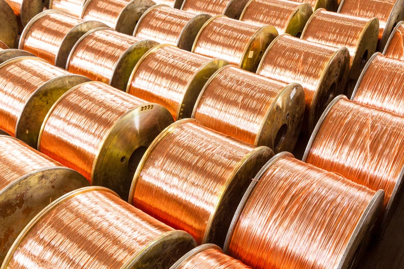 Copper prices fell sharply late Friday.