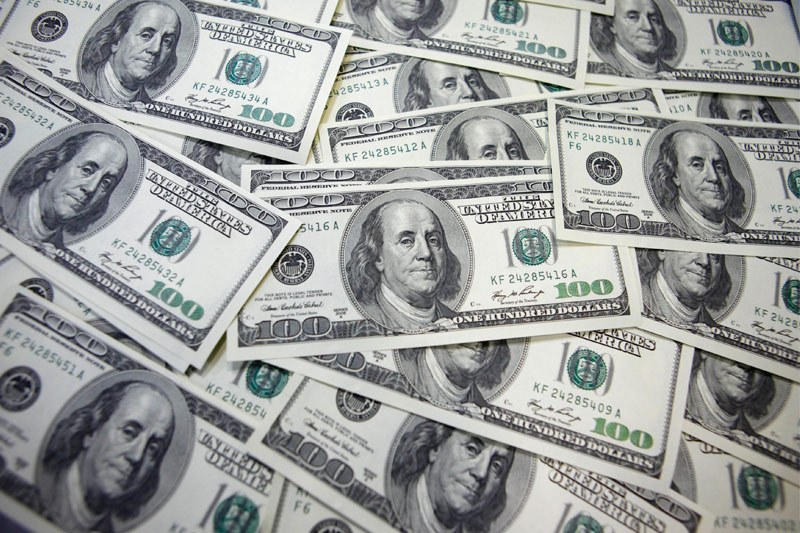 The U.S. dollar dipped down on Friday.