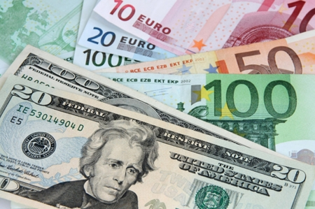 周三EUR/USD跌0.39%收于1.087
