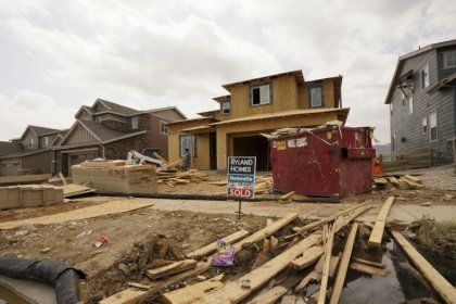 U.S. housing starts fall; building permits hit one-year high