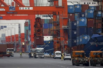Japan's exports rise in March, trade friction fears cloud outlook