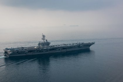 Japanese ships join U.S. carrier for drills as it nears Korean waters