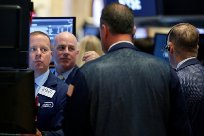 S&P, Dow lower as J&J drags; Nasdaq hits record