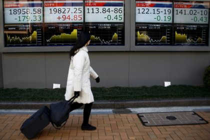 Asia shares at highest in nearly a decade, dollar skids on Fed