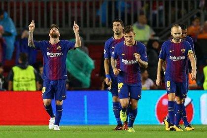 Messi marca 100º gol em competições europeias em vitória do Barça sobre Olympiakos