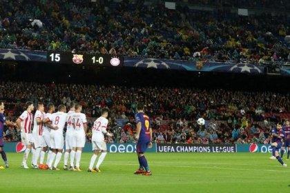 Messi marca su gol número 100 en competiciones europeas en el Barcelona-Olympiakos