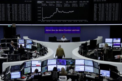 European shares fall on Catalonia standoff, disappointing Q3 earnings