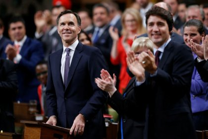 Canada to unveil smaller budget deficit, hopes will shift focus