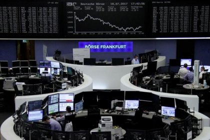 Financials weakness puts brakes on European stocks