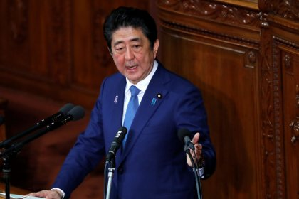 Japan PM Abe - Government and Bank of Japan to work together to beat deflation