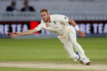 Broad fine after being struck by stray golf ball on day off