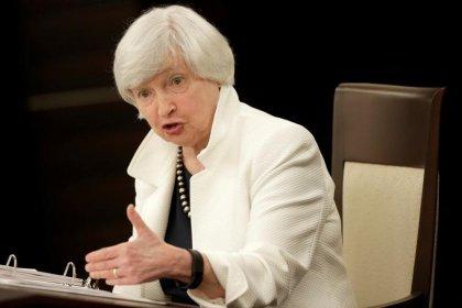 Yellen to leave Fed board once successor Powell sworn in