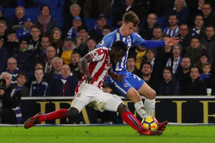 Brighton recover twice to salvage 2-2 draw with Stoke