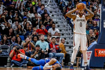 Pelicans' Cousins ejected for elbowing Westbrook