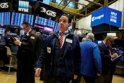 Tech, healthcare stocks lift Wall Street to record