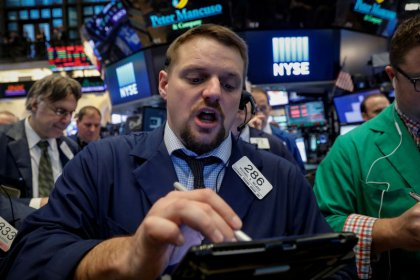 Crude price jump helps Wall Street offset tech losses