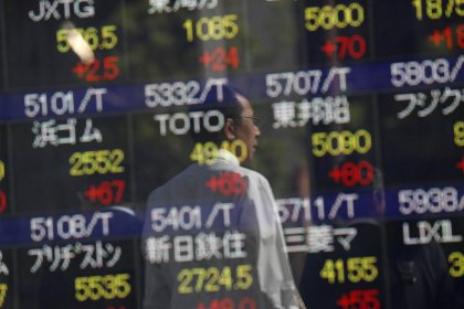 Asian shares off 10-year peak, eyes on China markets