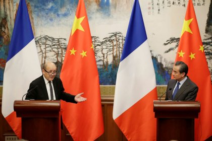 France's Le Drian says China is 'well placed to push' North Korea to talks