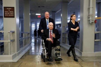 Senator McCain will vote on tax bill -No. 2 Republican