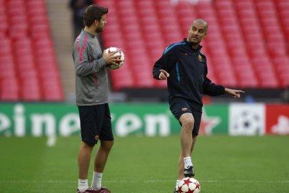 Piqué espera encontrarse con el City de Guardiola en la final de la Liga de Campeones