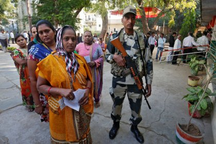 India ruling party pulls ahead in election in Modi state after tight race