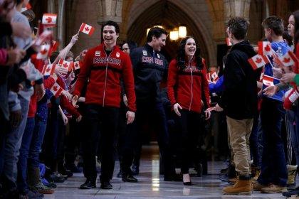 Canada's Virtue and Moir named flag bearers for Pyeongchang Olympics
