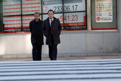Asian shares retreat as commodities ease, bitcoin pummeled