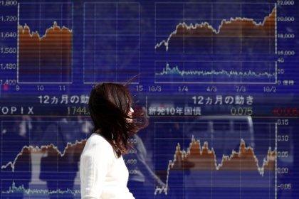 Global stocks, dollar sag after U.S. government shutdown