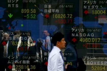 Asia stocks rise as U.S. government shutdown ends, dollar-yen inches down