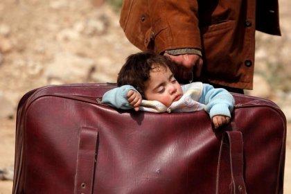 Russland - Erneut Tausende Menschen aus Ost-Ghuta geflohen