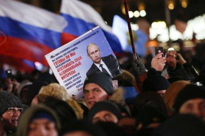 Путин лидирует на выборах президента с 75% голосов после обработки 50% протоколов