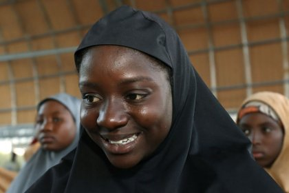 Plane taking freed Nigerian schoolgirls to capital Abuja: Reuters witness