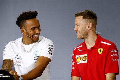 Motor racing: Hamilton, Vettel savor competing against the 'best'