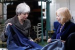 The future is bright, vows May on tour of Brexit-divided country