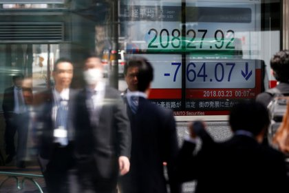 Global stocks cautious on trade, Syria anxiety; dollar near six-week highs