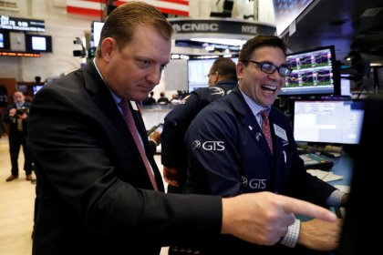 Apple, P&G and chip stocks lead Wall Street lower