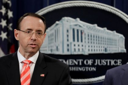 Rosenstein told Trump last week he is not a target in Russia probe