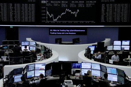 European shares set for fourth week of gains; Ericsson shines