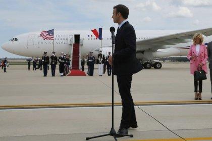 Macron est arrivé à Washington pour sa visite d'Etat