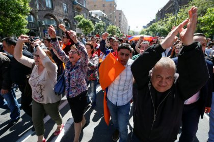 Armenians protest as acting leader suggests new elections