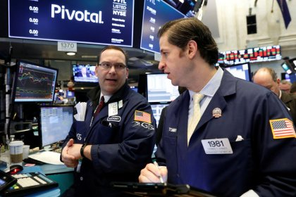 Wall Street jumps as tech roars back, yields retreat