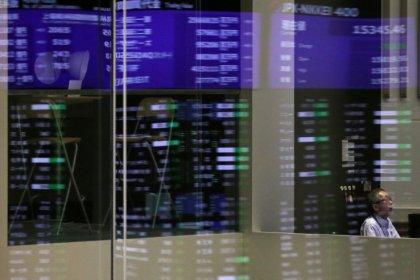 Asian shares climb as Korea tensions ease, U.S. data eyed
