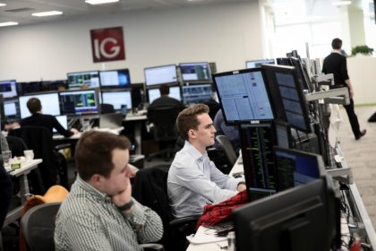 FTSE rebounds as trade worries ease, pound weakens further