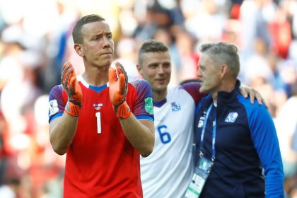 Iceland keeper Halldorsson swaps film-making for World Cup drama