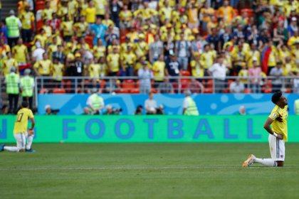 Colombia, weary but brave in defeat, still in with chance
