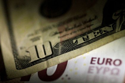 Euro perks up as French, German surveys dispel slowdown fears