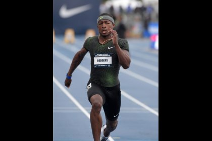 Rodgers speeds to year's fastest 100 meters
