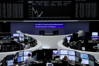 European shares bounce, but eye worst week since March on trade tremors