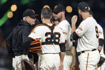 Giants' Strickland apologizes for self-inflicted injury