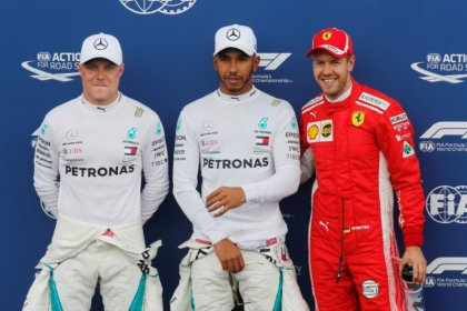 Hamilton on pole in France with Vettel third